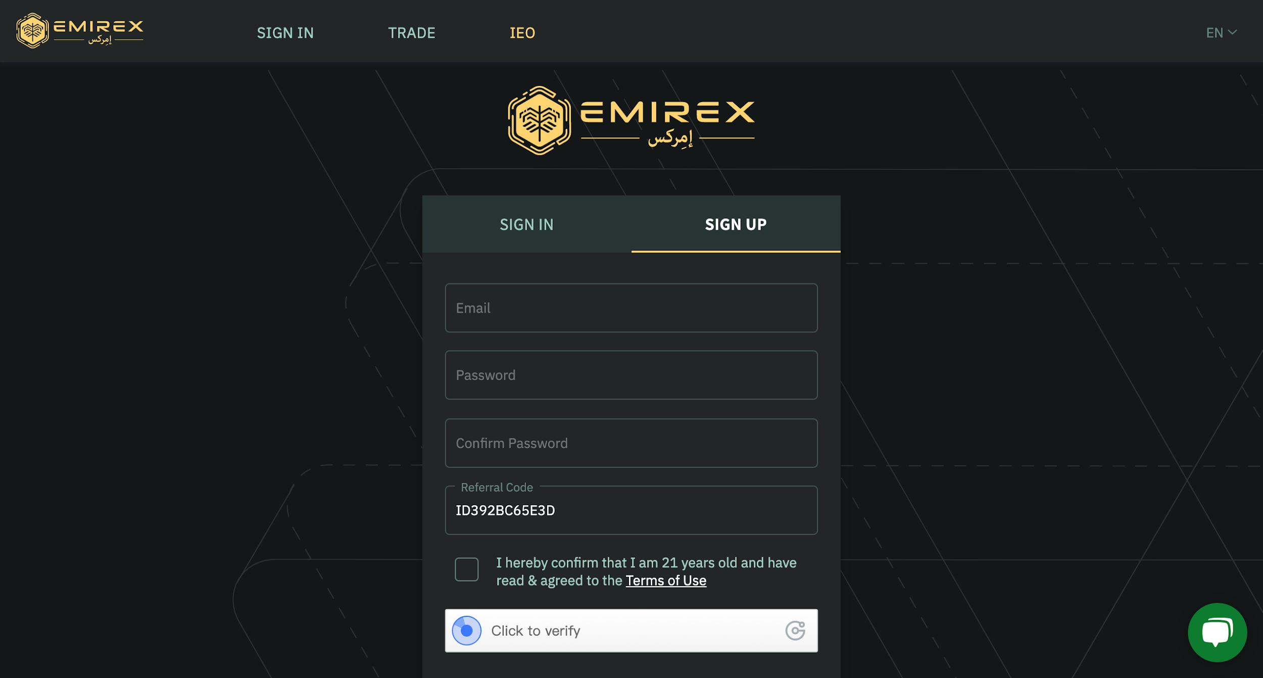 Emirex Referral Program