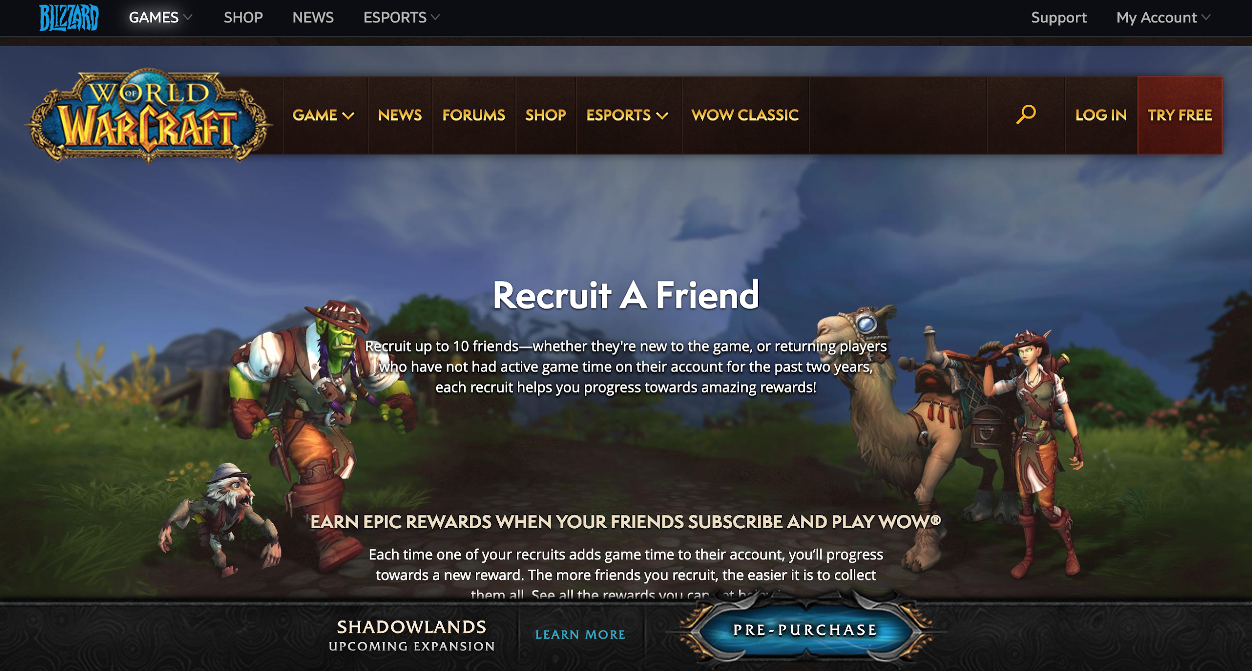 World of Warcraft Referral Program